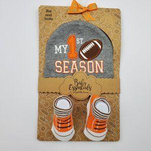 Baby Essentials My 1st Season Hat Matching Sock